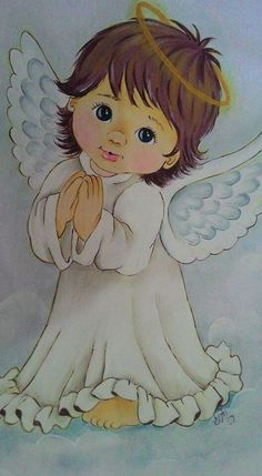 Baby Painting, Fabric Painting, Angel Pictures, Cute Pictures, Christmas Angels, Christmas Art, Baby Engel, Angel Artwork, Guardian Angels