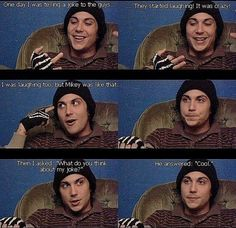 Frank Iero talking about Mikey Way. His made me laugh way too much