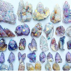 Crystals bringin' some good vibes. Crystal Photography | Gemstones | Grid