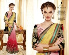 Sterling Hot Pink and Off White Net saree | Collection of designer sarees