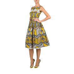 Nairobi Dress honeycomb yellow - Spring Summer 2015 - Online Store - Lena Hoschek Online Shop