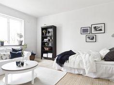 White Black Studio Apartment