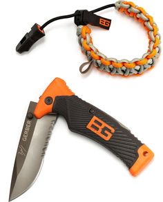 At REI Outlet: Gerber Bear Grylls Knife & Survival Bracelet Set — Great gift idea.