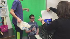 Falling snow in a newscast looks really fun with these students from Forest Lake. It is a great way to learn technology and presentation skills using Green Screen by Do Ink.
