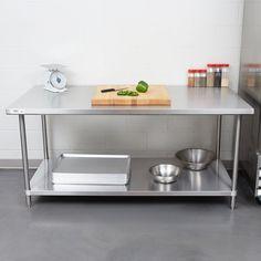 "Regency 36"" x 72"" 16 Gauge Stainless Steel Commercial Work Table with Undershelf"