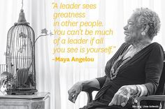 Maya Angelou's interview with HBR is one of my favorites. She will be sorely missed. http://hbr.org/2013/05/maya-angelou/ar/1…