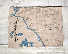 Adventure Map, Dramatic Effect, Leather Craft, Suede Leather, The Fosters, Products, Leather Crafts, Gadget