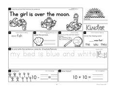 Homework: Kindergarten February Packet (Differentiated