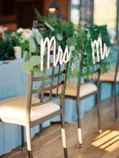 Featured Photographer: Kristin La Voie Photography; wedding reception chair decor idea