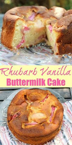 Rhubarb Vanilla Buttermilk Cake