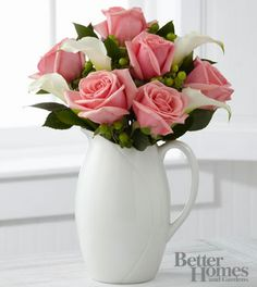 Beautiful rose and lilly arrangement