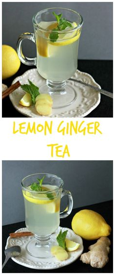 Lemon Ginger Tea aids with digestion and is delicious on a cold blustery day | www.wineladycooks.com #lemon #ginger #tea @wineladyjo