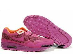 Womens Nike Air Max 1 Red Plum Red Plum White Shoes