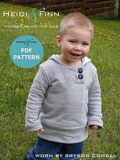 try sewing this adorable lil boy sweatshirt from dad's old sweatshirts?