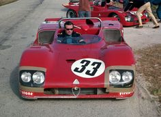 1971 .. Sebring 12 Hr. entered by Autodelta S.P.A. (I), Alfa-Romeo T33/3, driven by Nanni Galli & Rolf Stommelen, finished 2nd o/a, 1st in class.