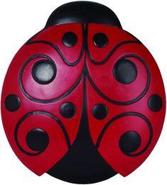 Red and Black Ladybug Decorative Garden Stone - 4