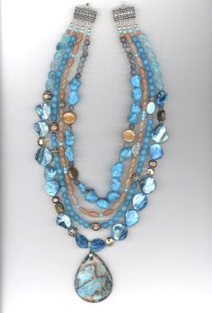 Turquoise Semi-precious Pendant Necklace_Michaels.com_instructions