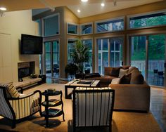 Living Room: Tan, Cream, Brown and Black by Bart Goldstein Interior Design www.bartgoldstein.com