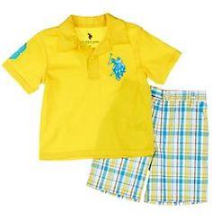 U.S. Polo Assn. Toddler Yellow Polo \u0026amp; Short Set