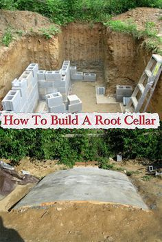 Hot to build a root cellar - I guess this style would be best suited to going directly underneath the green house. Now if I can find a way to have a cute hobbit door...