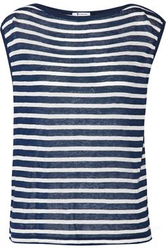 Shop on-sale T by Alexander Wang Striped jersey top. Browse other discount designer Tops & more on The Most Fashionable Fashion Outlet, THE OUTNET.COM