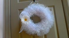 Lung Cancer Awareness Tulle Wreath by ScrappyHours on Etsy