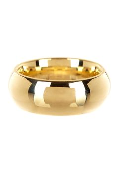 14K Yellow Gold Band Ring - 8mm width on @HauteLook
