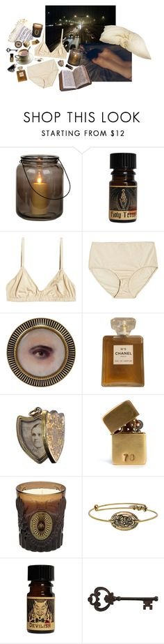 """I still love you like I did the first time"" by faelike ❤ liked on Polyvore featuring Chanel, In God We Trust, D.L. & Co., Alex and Ani and Pier 1 Imports"