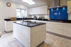 white gloss handleless kitchen cabinets - Google Search