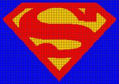 Superman Crochet Graphghan Pattern Chart/Graph by YarnLoveAffair, $10 ...