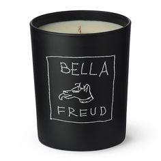 Infuse your home with the designs of top British designer Bella Freud with this Signature scented candle. An intense wood and oud fragrance, this candle has a heady heart of smoked incense layered wit Scented Candles, Candle Jars, Kitchen Candles, Bella Freud, Glass Vessel, Burning Candle, Black Glass, Fragrance, Resins