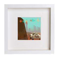 Collage digital Going to the city de Poppy Girl Illustrations por DaWanda.com