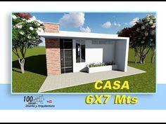 Plano de Casa 6x7 Metros, económica - YouTube Small Loft Apartments, Iron Doors, Small House Design, Home Design Plans, Architecture Design, Modern Houses, Outdoor Decor, Home Decor, Ideas