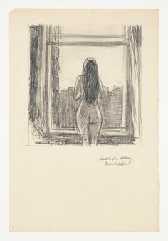 Edward Hopper, Sketch for Etching on ArtStack #edward-hopper #art