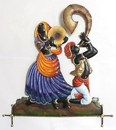 Tribal Dancers of India - Wall Hanging (Wrought Iron))