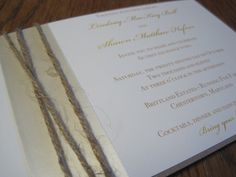 Twine and ribbon invitation - lots of texture!