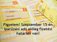 Iparűzési adó előleg <br> fizetési határidő! Event Ticket