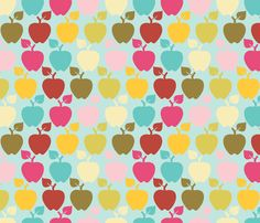 apples fabric by jumping_birds on Spoonflower - custom fabric