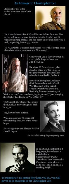 Badass indeed. RIP Christopher Lee, you were an extraordinary human being. ♥