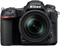Nikon DSLR Camera with Lens: Capture stunning photographs and Ultra HD video with this DSLR camera's CMOS image sensor. Built-in SnapBridge lets you share images instantly via Bluetooth or Wi-Fi. Nikon D500, Reflex Numérique Nikon, Nikon Dslr Camera, Nikon Cameras, Camera Hacks, 4k Uhd, Distancia Focal, Camera Deals, Camera Equipment