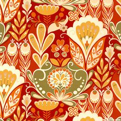 Allure - Garden of Delight - Cinnamon Red
