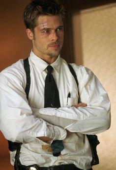 Brad Pitt as Detective David Mills in Seven.