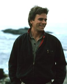 Richard Dean Anderson on location for MacGyver