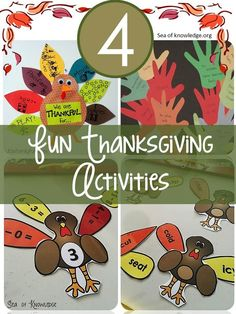 Fun Thanksgiving activities to instil thankfulness and literacy and math Turkey activities with a freebie!
