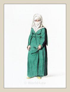 Turkish Woman in Constantinople, Ottoman Empire, 1800