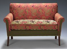 Salon Settee in Melody Rustic: Mary Lynn O'Shea: Upholstered Sofa - Artful Home