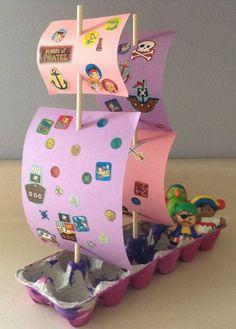 bricolage enfant avec recup  activités manuelles avec boite à oeuf en carton