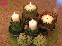 También pueden utilizar verduras. Por ejemplo las alcachofas harán que los centros de mesa para boda luzcan de los más modernos y originales.