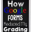 How did I not know this?!?! Google Forms are not new of course, but automatically grading an assignment I collected within Google Forms?? An add-onfor Google Forms that will grade for you!!!!  …