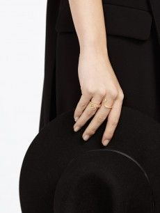 Serpentine Two-Finger Ring